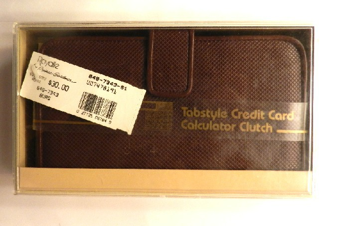 Princess Gardner Tabstyle Credit Card Calculator Clutch NWT