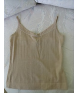 JILSANDER CASHMERE SLEEVELESS CAMEL COLOR TOP SIZE 34 (ITALY) - $129.99