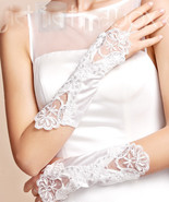 Fingerless satin gloves for wedding, prom, any special occasion. white  NWT - $10.95
