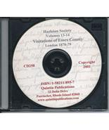 CD: Harleian Society, Vol. 13-14, The Visitations of Essex in 1552 - $11.98