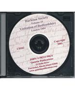CD: Harleian Society, Vol. 19, Visitation of Bedfordshire,1566, 1582, an... - $9.98