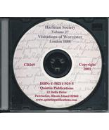 CD: Harleian Society, Vol. 27, Visitation of the County of Worcester, 1569 - $9.98
