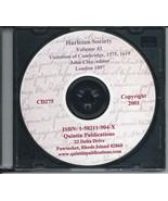 CD: Harleian Society, Vol. 41, Visitation of Cambridge, 1575, 1619 - $9.98