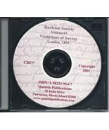 CD: Harleian Society, Vol. 43, Visitation of  County of Surrey, 1530, 15... - $9.98