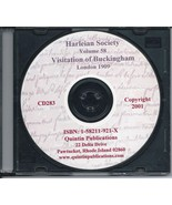 CD: Harleian Society, Vol. 58, Visitation of the County of Buckingham, 1634 - $9.98