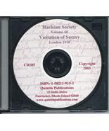 CD: Harleian Society, Vol. 60, Visitation of the County of Surrey, 1662-... - $9.98