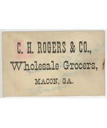 Rogers Co Macon Georgia Wholesale Grocers Victorian business trade card ... - $8.00