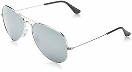 Ray Ban Sunglasses Aviator RB3025 003/40 62mm Silver w/ silver Mirror - $199.88