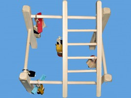 Bird Play Stand,Play Gym For Parakeets,Love Birds,Tiels,parrotlets - £17.74 GBP