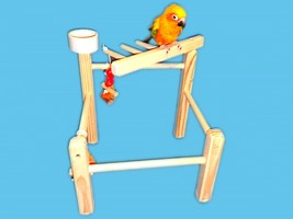 Bird Toy Play Gym Cockatiels,Conures,Senegals,Etc.-Bird Toy,Play Stand, ... - £13.90 GBP