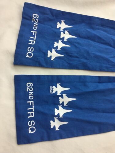 Blue AIR FORCE SQUADRON PILOT SCARF USAF 62nd FIGHTER SPIKE image 2
