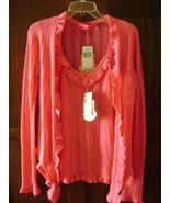 Juicy Couture Pink Sweater Set 100% Cashmere Tank & Sweater FREE SHIPPING - $190.00