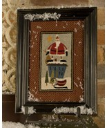 Up On The Housetop Punchneedle chart embroidery Threads That Bind - $14.40