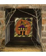 Helga's Sideshow witch halloween Punchneedle chart embroidery Threads Th... - $14.40