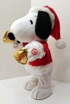 """Snoopy 13"""" Hallmark Exclusive 2010/11 Animated Collectible P EAN Uts """"Bell Ringer"""" - $18.99"""