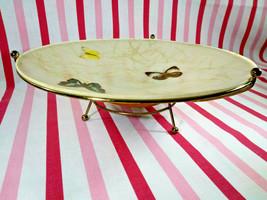 Mid Century MoD Flying Saucer Butterfly Fiberglass Console Pedestal Bowl... - $38.00