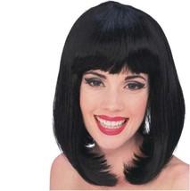 Wig - Peggy Sue - Black - Adult Sexy Super Model Glamour Long Bob w/ Bangs - $16.20