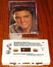ELVIS PRESLEY THE TOP TEN HITS ORIGINAL CASSETTE 1987 - $49.49