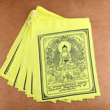 Yellow Shakyamuni Buddha Prayer Flags - $8.42