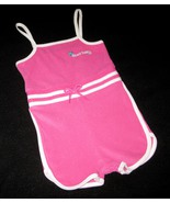 GIRLS 18 MONTHS - Wonder Kids Beach Babe Pink & White Stretch Terrycloth... - $9.00