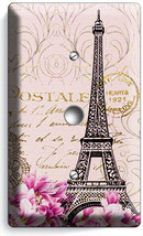 VINTAGE EIFFEL TOWER MAGNOLIA FLOWERS PARIS POST CARD LIGHT DIMMER CABLE... - $10.99