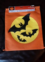 Halloween Trick or Treat Candy Bag Party Bookbag String Bat Sack Accesso... - $7.69