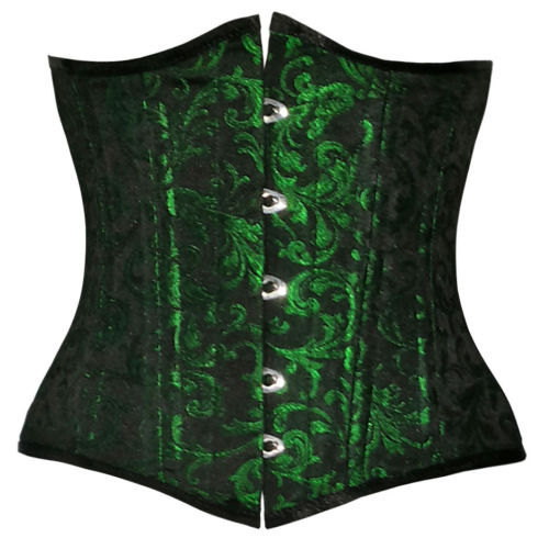 Authentic Spiral Boned 100% Poly Brocade Waist Training Underbust Corset, used for sale  USA