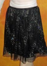 Victoria's Secret $128 Tulle Black Glitter Party Skirt 2 - $49.00