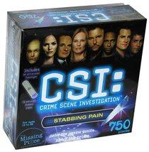 CSI: Crime Scene Investigation, 750 Piece Mystery Puzzle, Stabbing Pain - $34.99