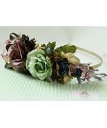 Bridal headband Bridal headpiece silk flower Wedding Hair Accessories 53 - $89.00