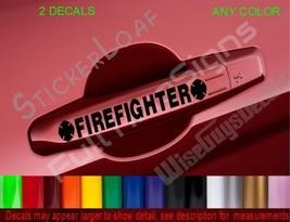 Firefighter Maltese Cross Fire Door Handle Decals Medic Firefighting Car Decal - $6.99