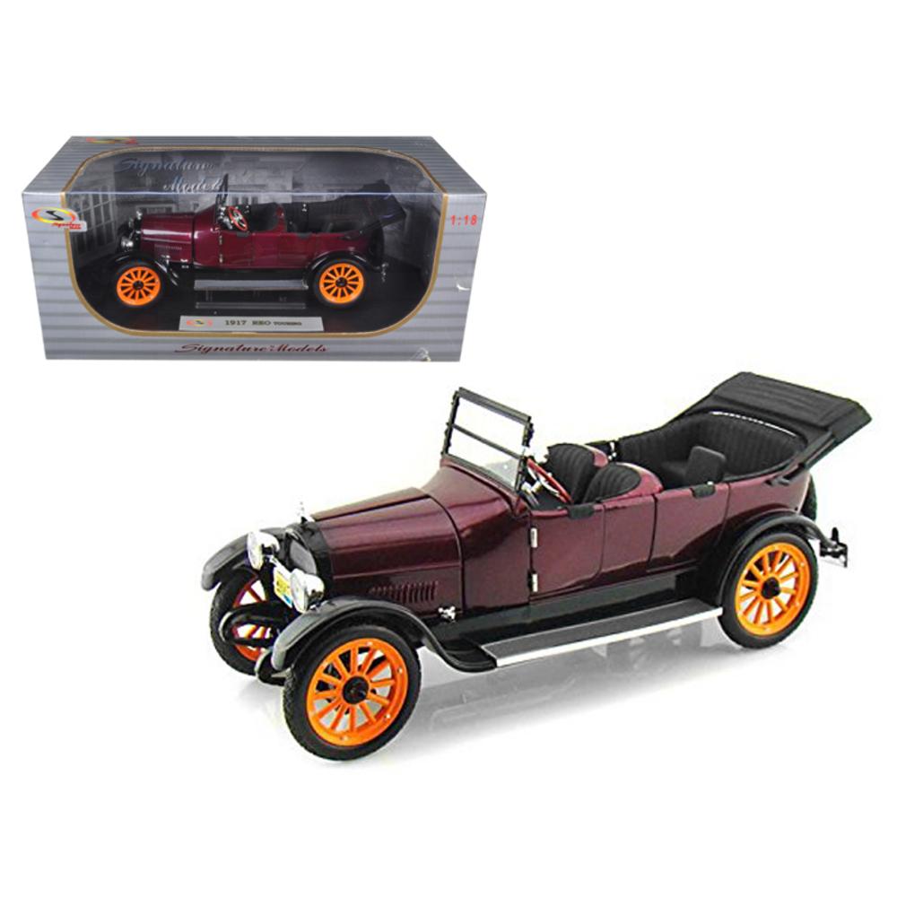 1917 REO Touring Burgundy 1/18 Diecast Model Car by Signature Models 18105bur