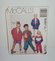 McCall Sewing Pattern 6397 Children Lined or Un... - $10.00