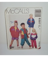 McCall Sewing Pattern 6397 Children Lined or Unlined Jacket Pants Shorts... - $10.00