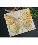 Butterfly Wall Plaque Relief Sculpture Artist G... - $29.95