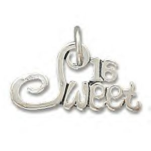 .925 Sterling Silver - Sweet 16 - Birthday Gift Charm