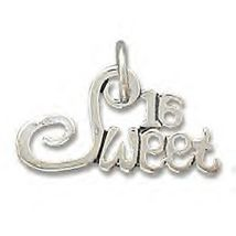 .925 Sterling Silver - Sweet 16 - Birthday Gift Charm - $9.98