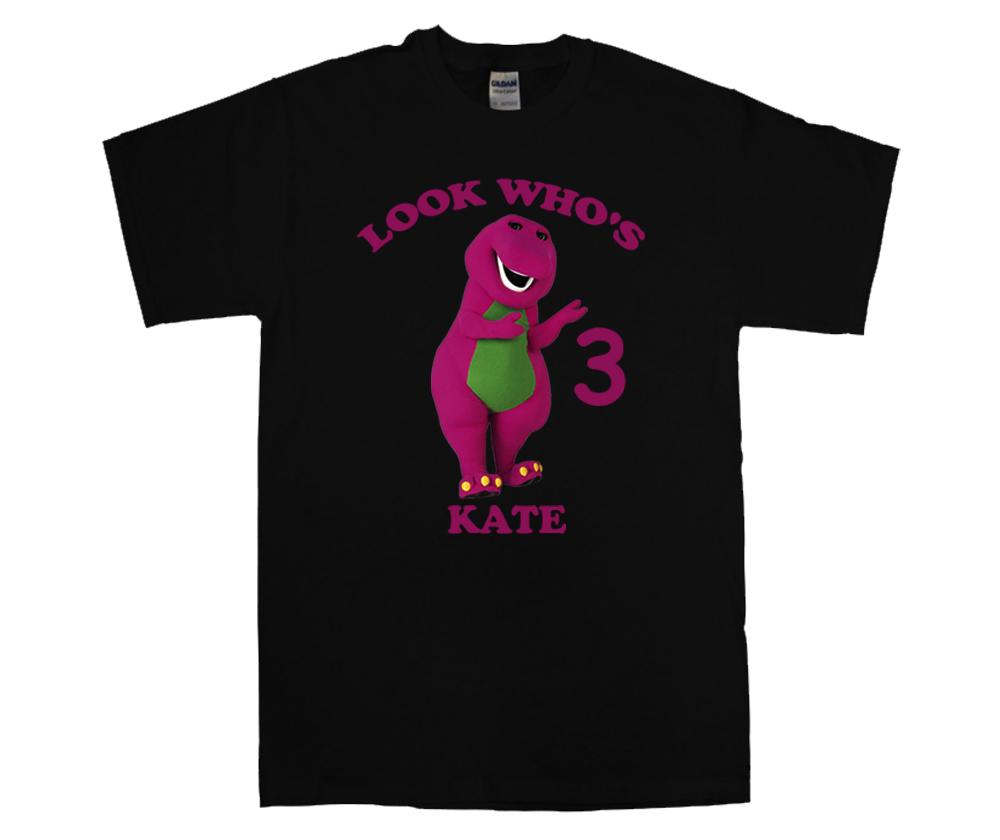 Barney Personalized Black Birthday Shirt T Shirts
