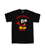 Mickey Mouse Personalized Black Birthday Shirt - $16.99+