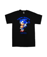 Sonic Hedgehog Personalized Black Birthday Shirt - $16.99+