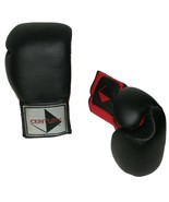 Century Martial Arts 16 oz Boxing Gloves Training Sparring Black Red CG-... - $21.80