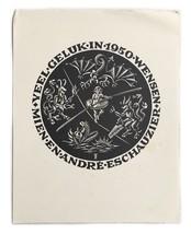 Ex Libris Book Plate Exlibris Veel Geluk 1950 Wensen Mien En Andre H.D. ... - $29.69