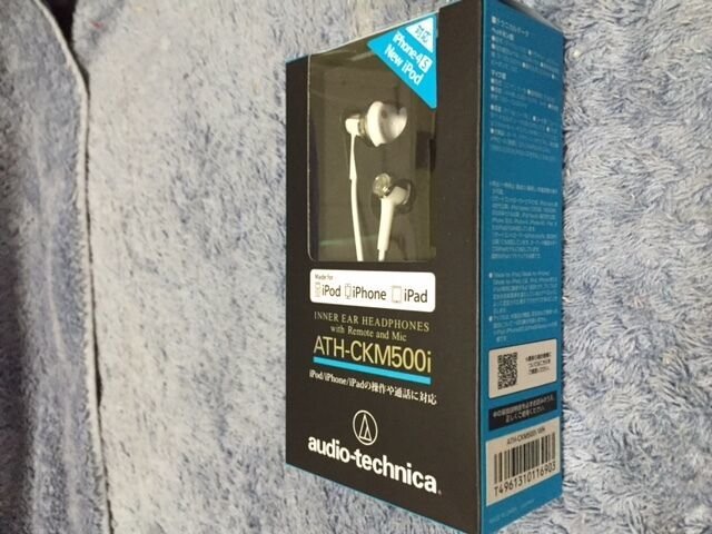 Audio-technica ATH-CKM500i/WH Earphones For iPod/iPhone/iPad ATHCKM500i WHITE