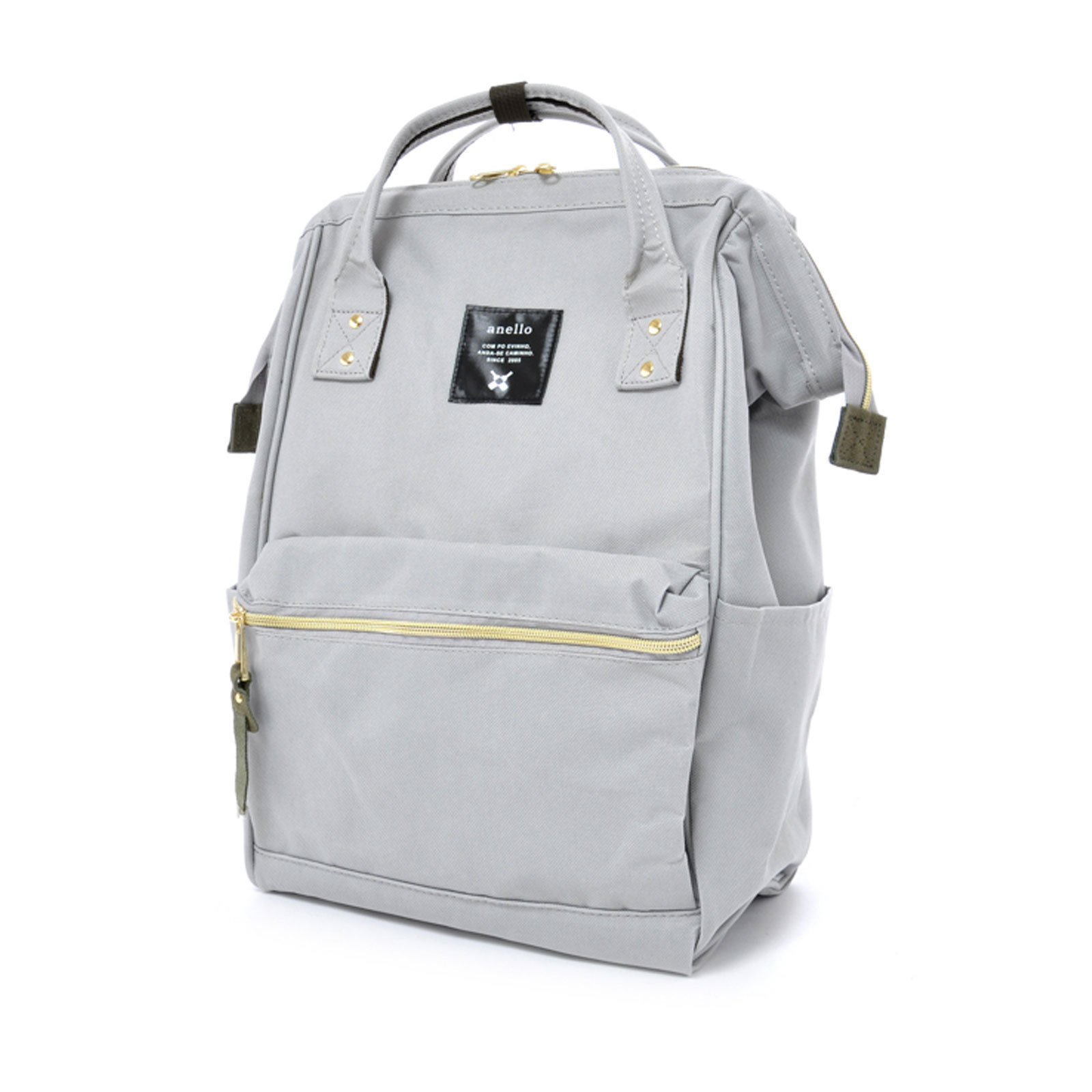 Anello Official Japan Light Grey Regular Backpack Rucksack Diaper Travel Bag