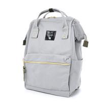 Anello Official Japan Light Grey Regular Backpack Rucksack Diaper Travel Bag image 1