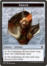MTG Magic The Gathering Khans of Tarkir Emblem Sarkhan - 2014 - $2.75