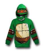 New TEENAGE MUTANT NINJA TURTLES Michelangelo Hoodie Mask Costume Jacket - £16.88 GBP+