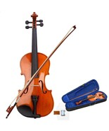 Full Size Natural Acoustic Violin Fiddle with Case Bow 4/4  - $59.99