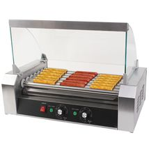 Commercial 18 Hot Dog Hotdog 7 Roller Grill Cooker Machine W/ cover - $129.99