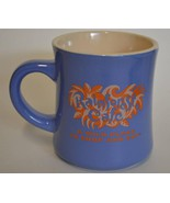 1999 Rainforest Cafe ~ Beige & Blue Purple ~ Coffee Cup Mug ~ Advertising - $19.95